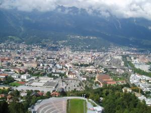 Innsbruck - pohled ze skokanského můstku