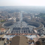 Vatikanske nam. z kopule basiliky sv. Petra