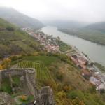 udoli Dunaje z hradu Durnstein